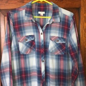J Jill Tunic Button Shirt